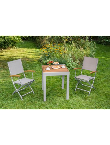 Gartenmobelset Naxos 3tlg 2 Sessel Tisch Klappbar