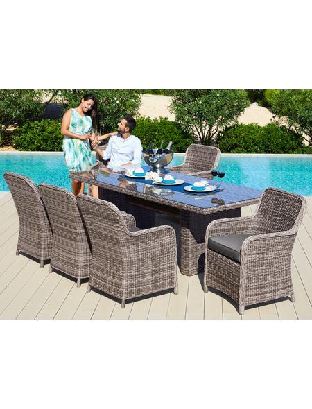 Gartenmobelset Korsika 17 Tlg 8 Sessel Tisch 230x100 Cm