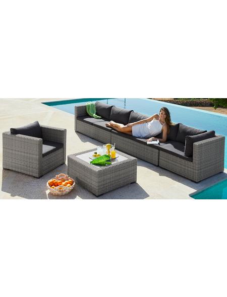 Loungeset »Miami«, 18-tlg. 2x2-Sitzer, Eckteil, Sessel, Tisch ...
